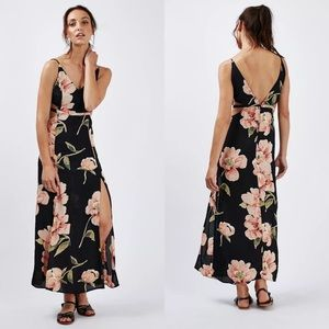 Topshop Floral Maxi with Side Cut Outs 10